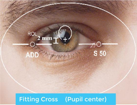 Fitting Cross (Pupil Center)